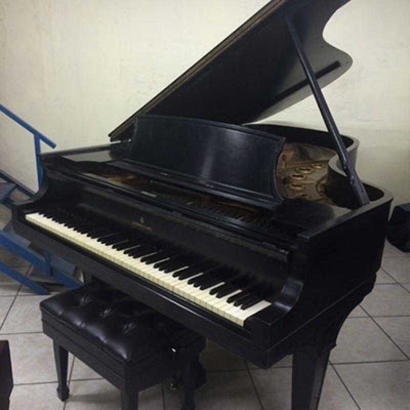 Onde Vende Piano Acústico de Cauda Vila Guilherme - Piano Branco de Cauda