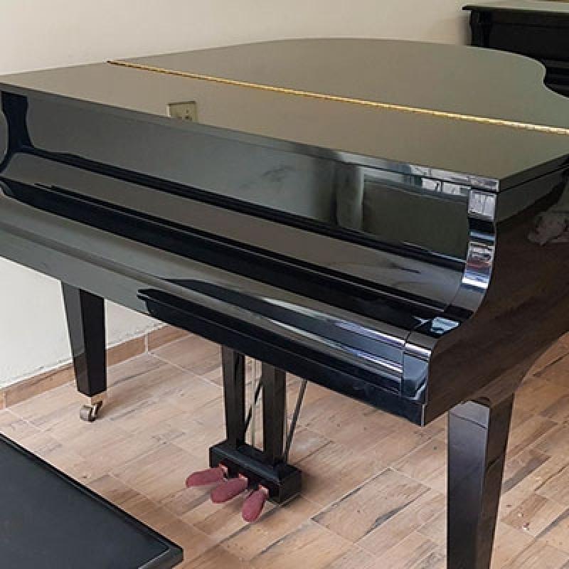 Onde Vende Piano de Cauda Preto Guararema - Piano de Meia Cauda