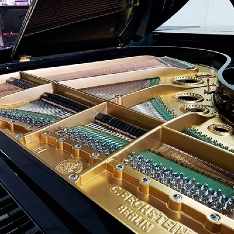 Piano Acústico Antigo de Cauda Higienópolis - Piano de Madeira Acústico