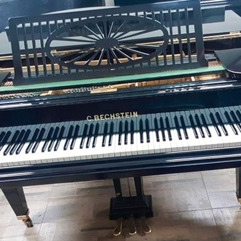 Piano Acústico de Cauda Antigo Valores José Bonifácio - Piano Antigo Acústico