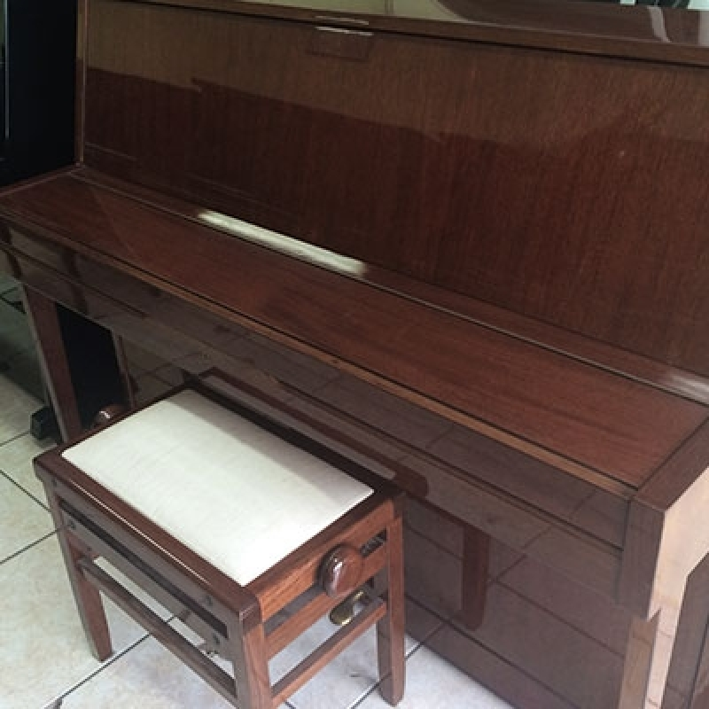 Piano Acústico Vertical Valores Bela Vista - Piano Antigo Acústico de Madeira