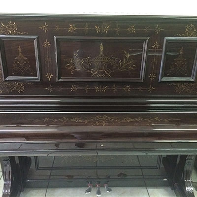 Piano Antigo Acústico de Madeira Santo Amaro - Piano de Madeira Acústico