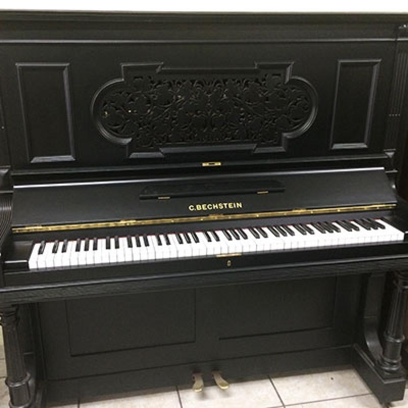 Piano Antigo Acústico Valores Vila Regente Feijó - Piano Antigo Acústico de Madeira