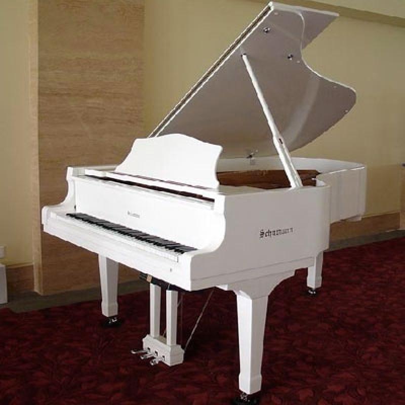 Piano Branco de Cauda Orçamento Vila Andrade - Piano de Cauda Preto
