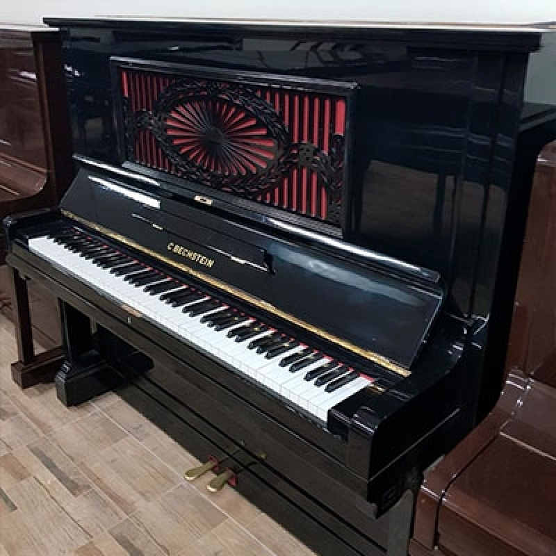Piano Vertical Acústico Valores Jockey Club - Piano Antigo Acústico de Madeira