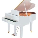 locação de piano branco de cauda Vila Romana