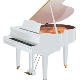 piano branco de cauda